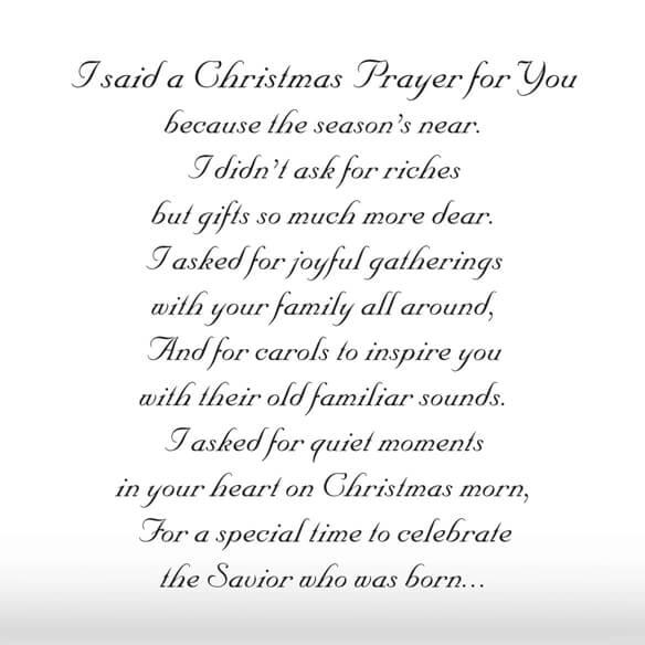 I Said A Christmas Prayer Religious Christmas Card Set of 20 ...