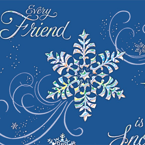 Personalized Snowflake Christmas Cards - View 4