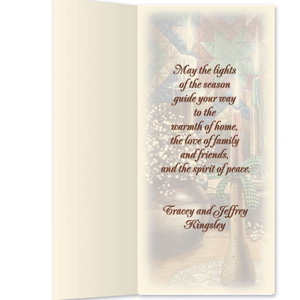 Personalized Candlelight Christmas Card Set of 20 - View 3