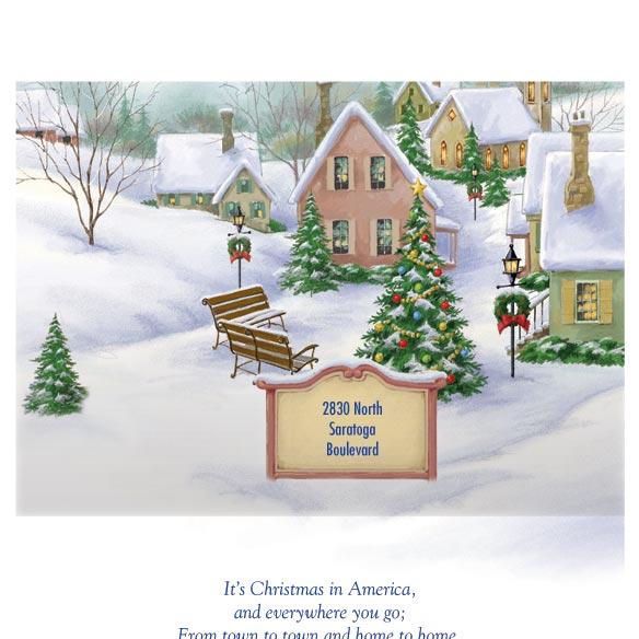 Personalized God Bless America Christmas Card Set of 20 - View 3