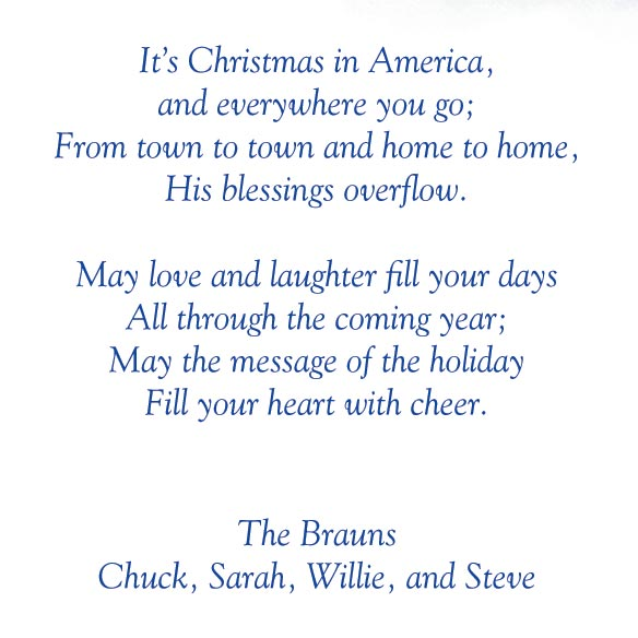 Personalized God Bless America Christmas Card Set of 20 - View 4
