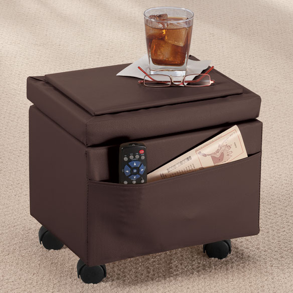 ... Flip Top Storage Ottoman by OakRidge™ Accents - View 3 ... - Flip Top Storage Ottoman - Storage Ottoman - Walter Drake