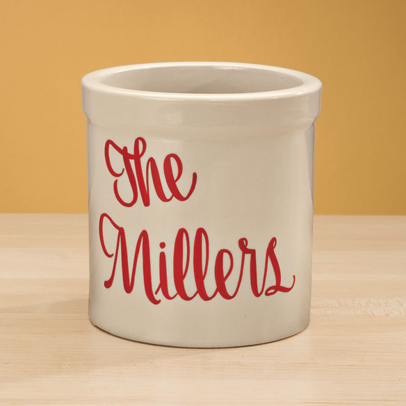 Personalized Stoneware Crock - 1 Qt - View 2
