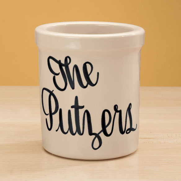 Personalized Stoneware Crock - 1 Qt - View 3