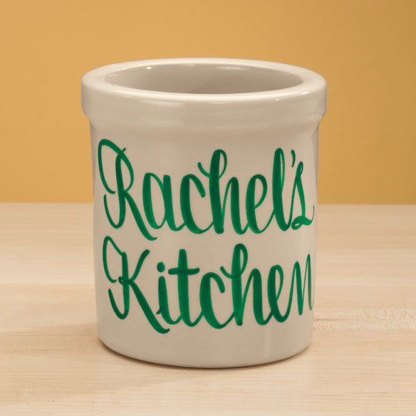 Personalized Stoneware Crock - 1 Qt - View 4