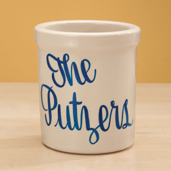 Personalized Stoneware Crock - 2 Qt. - View 3