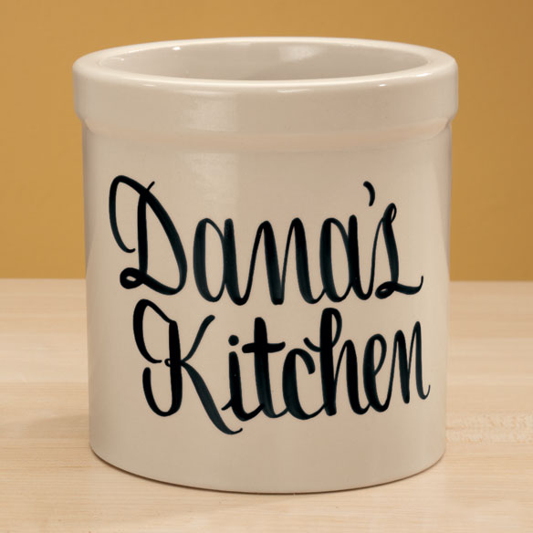 Personalized Stoneware Crock - 2 Qt. - View 5