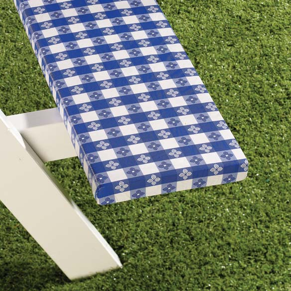 Checked Picnic Table Cover - View 2