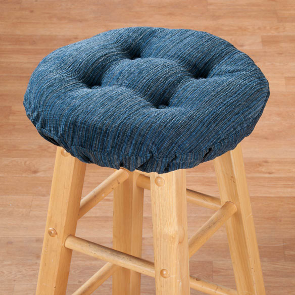Chenille Round Bar Stool Cushion - View 2