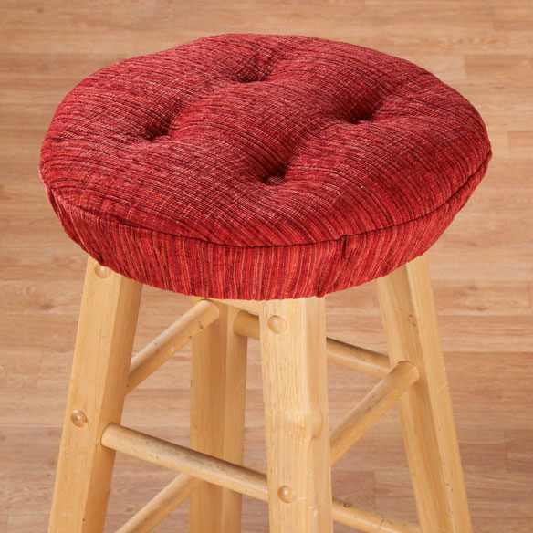 Chenille Round Bar Stool Cushion - View 3