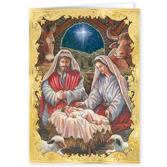 Holy Family Personalized Christmas Cards Set Of 20 - View 2