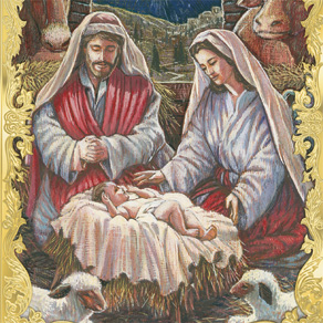 Holy Family Personalized Christmas Cards Set Of 20 - View 4