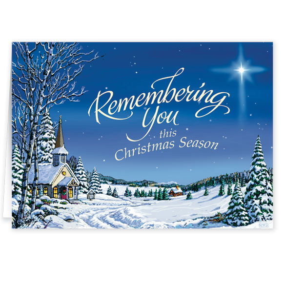 Personalized Remembering You Christmas Card Set of 20 - View 2