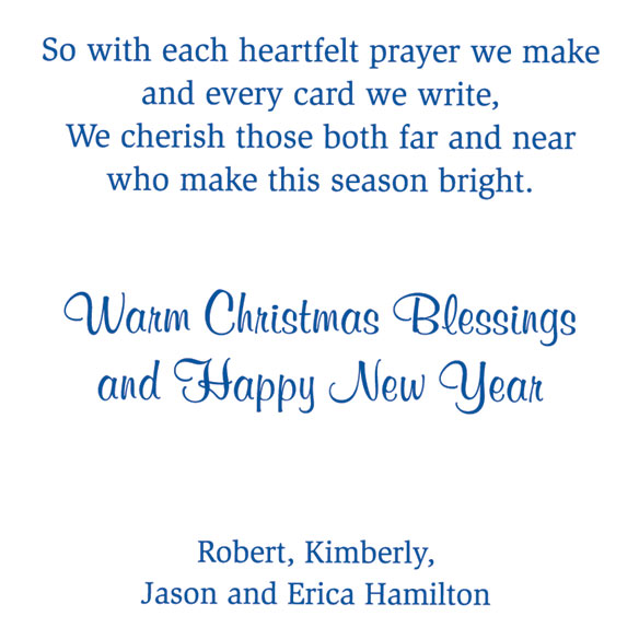 Personalized Remembering You Christmas Card Set of 20 - View 4
