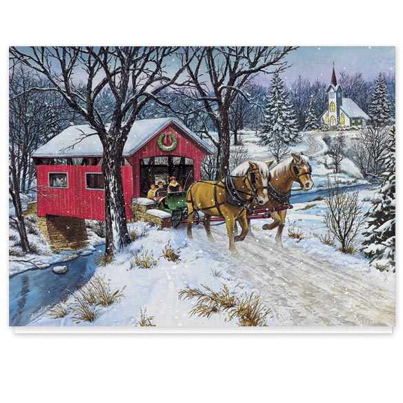 Personalized Home for Christmas Card Set of 20 - View 2