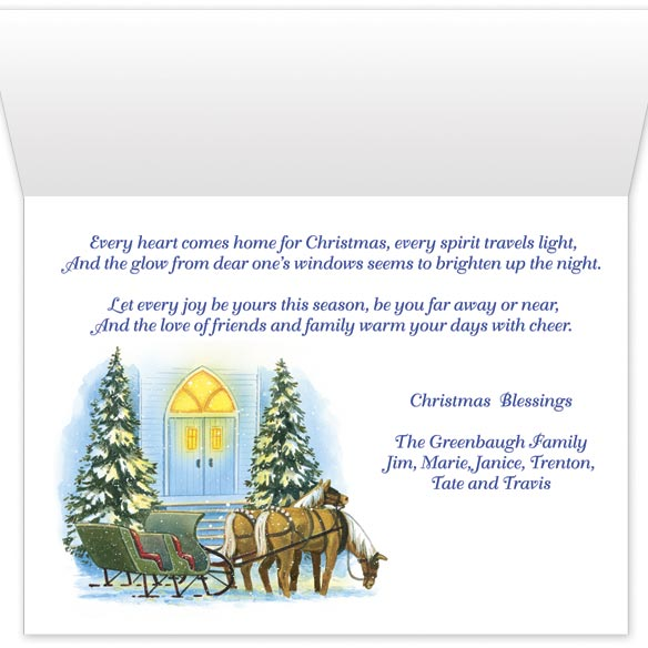 Personalized Home for Christmas Card Set of 20 - View 3