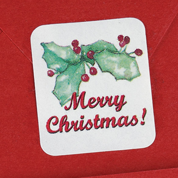 Merry Christmas Seals - Set of 200 - View 2