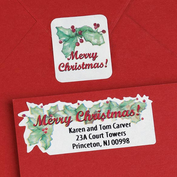 Merry Christmas Labels And Seals Set - View 2
