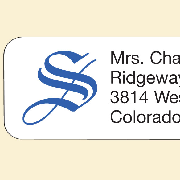 Ornate Initial Personalized Address Labels - View 2