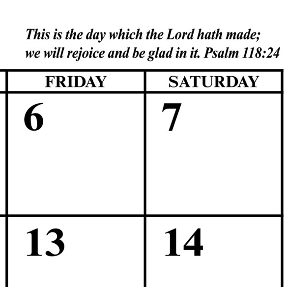 Bible Verse Magnetic Calendar - View 2