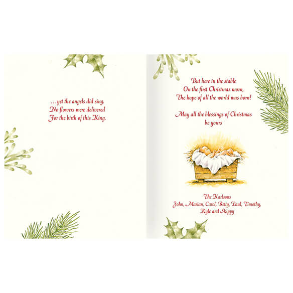 Personalized Christmas Certificate Card Set of 20 - View 2