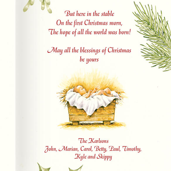 Personalized Christmas Certificate Card Set of 20 - View 4