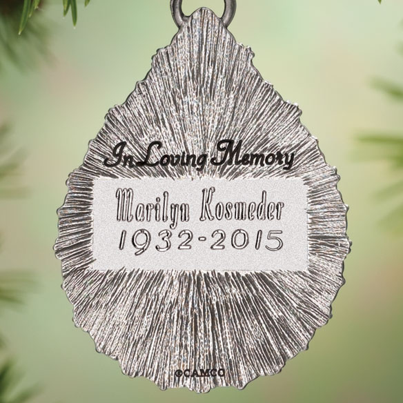 Personalized Teardrop Memorial Ornament - View 2
