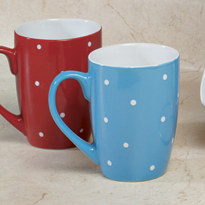 Polka Dot Mug Set with Stand - View 2