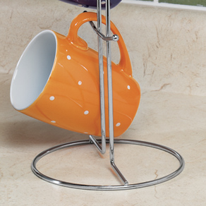 Polka Dot Mug Set with Stand - View 3