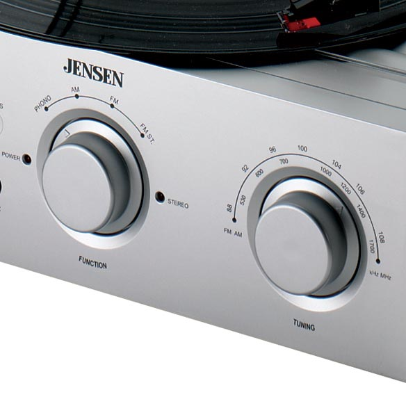 Jensen® Turntable With Radio - View 2