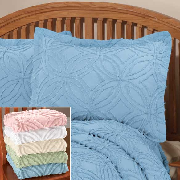The Eliza Chenille Bedspread Sham by East Wing Comforts™ - View 2