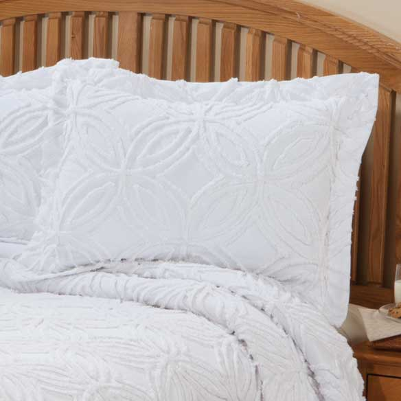 The Eliza Chenille Bedspread Sham by East Wing Comforts™ - View 4