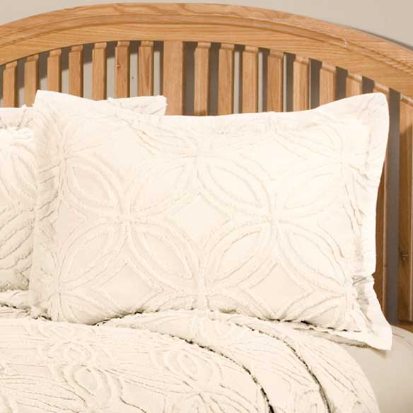 The Eliza Chenille Bedspread Sham by East Wing Comforts™ - View 5