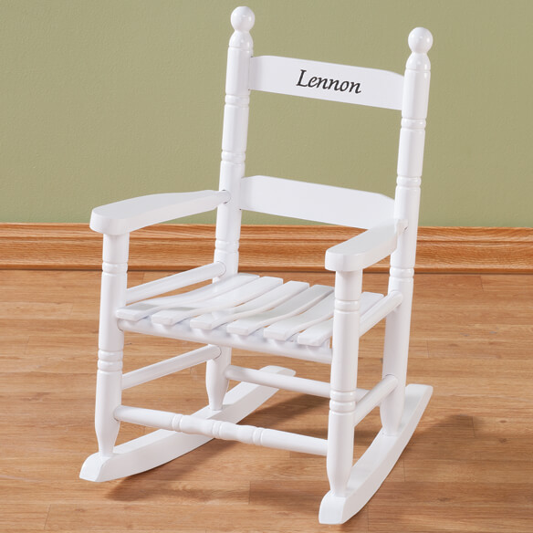 Personalized Child's White Rocker - View 2
