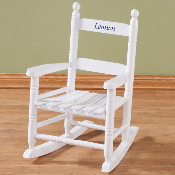 Personalized Child's White Rocker - View 3