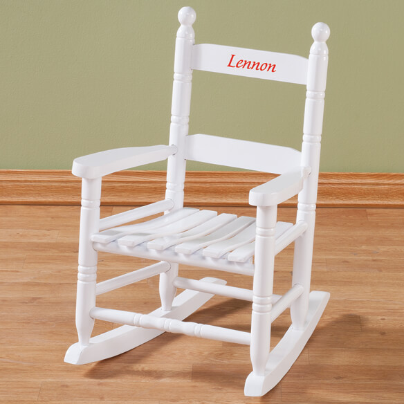 Personalized Child's White Rocker - View 4