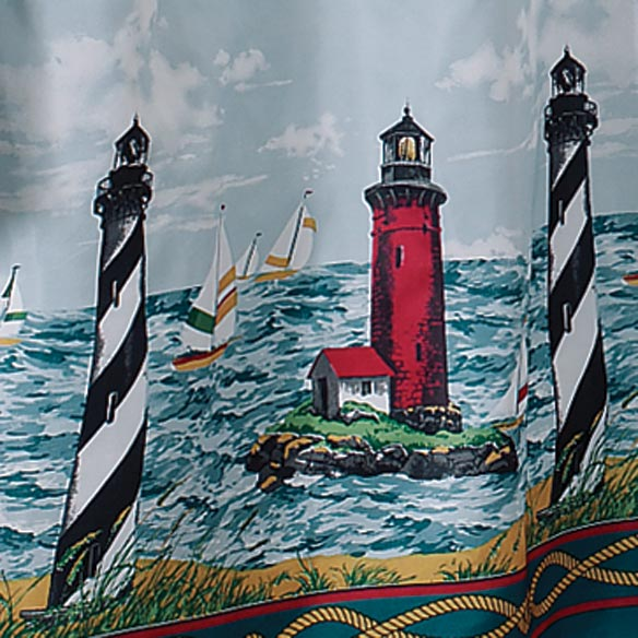 Lighthouse Shower Curtain - View 2