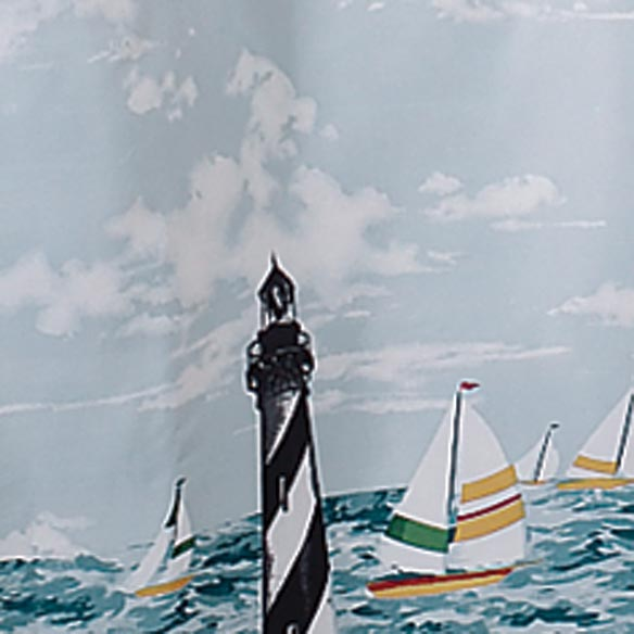 Lighthouse Shower Curtain - View 3