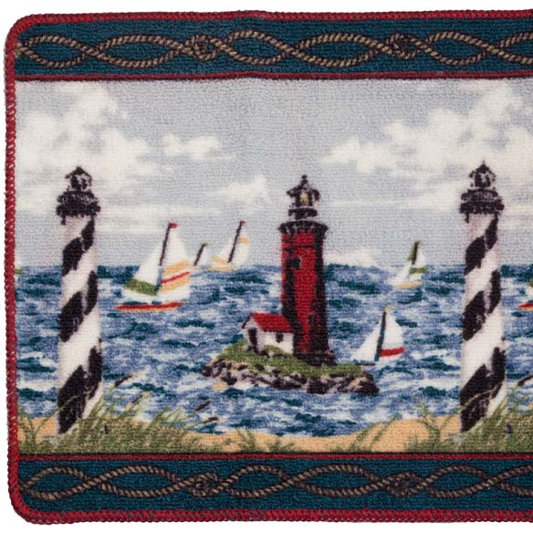 Lighthouse Bath Mat - 2 Piece Set - View 2