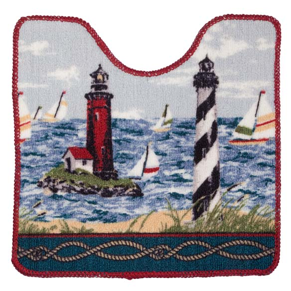Lighthouse Bath Mat - 2 Piece Set - View 3