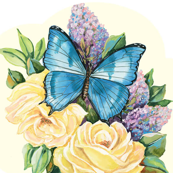 Lilac Butterfly Mini Magnetic Calendar - View 2