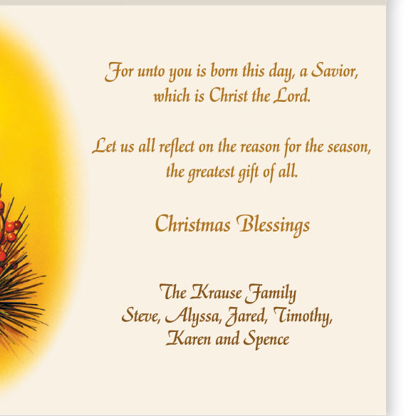 Personalized Reflections of Christmas Card Set of 20 - View 3