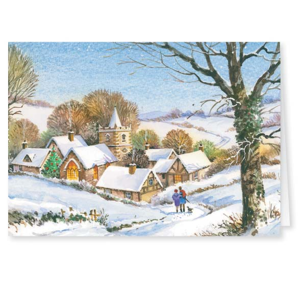 Peaceful Village Christmas Card - Set of 20 - View 2