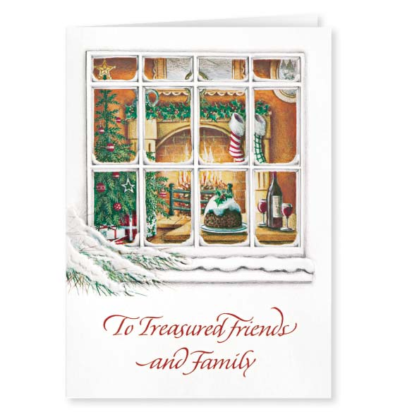 Personalized Treasured Friends Christmas Card Set of 20 - View 2