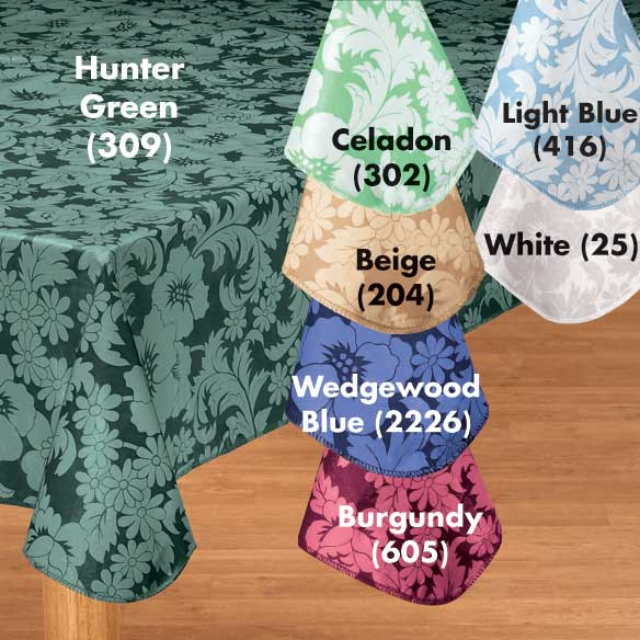 Bordeaux Floral Vinyl Table Cover - View 2