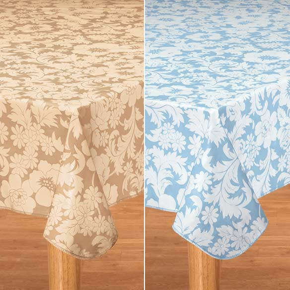Bordeaux Floral Vinyl Table Cover - View 4