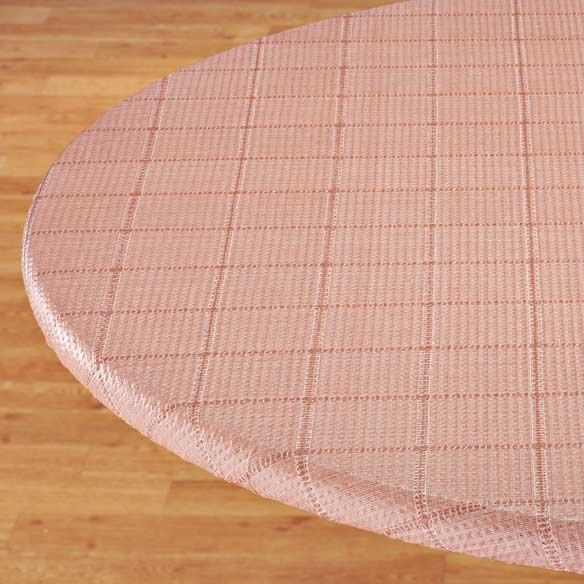 Woven Lattice Elasticized Table Cover - View 3