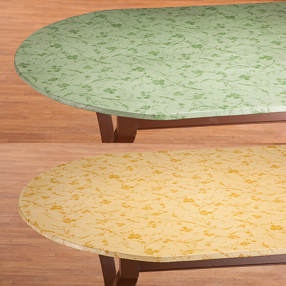Floral Swirl Elasticized Table Cover - View 5
