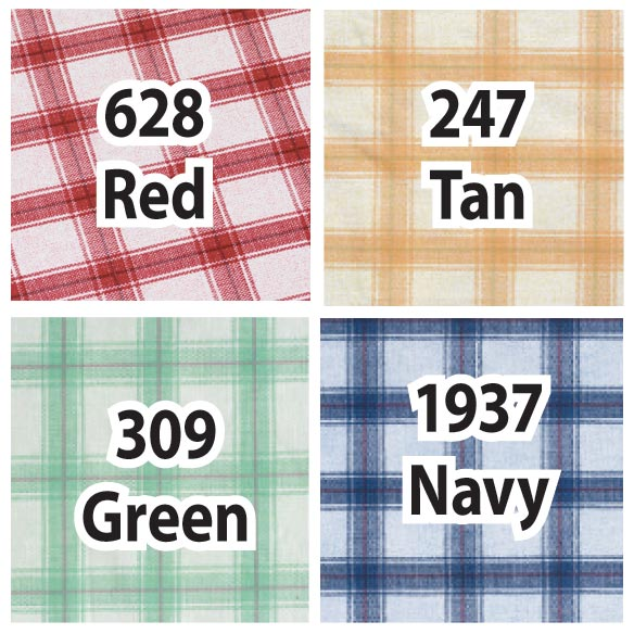 Plaid Elasticized Vinyl Table Cover - View 2