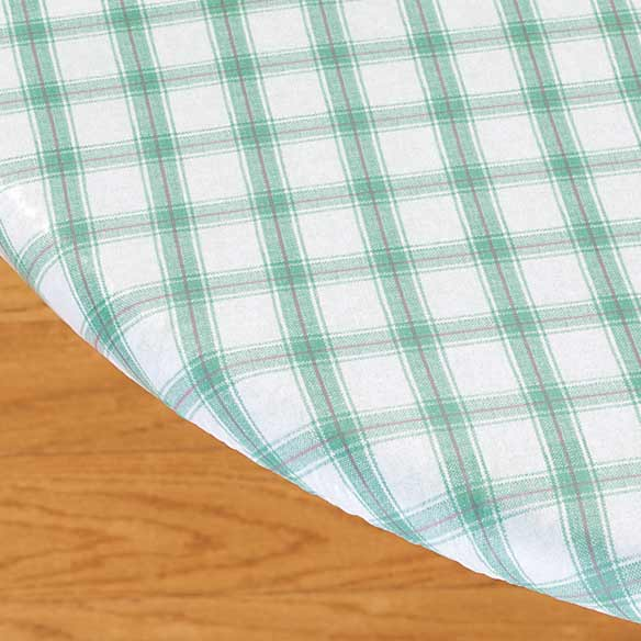 Plaid Elasticized Vinyl Table Cover - View 4